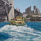 Ferry turning, Sydney Harbour by Freda Surgenor