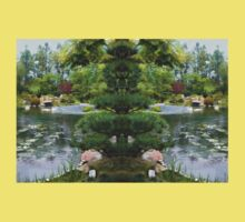 Japanese Garden Panorama Kids Tee