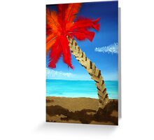 Feathered Palm Tree Greeting Card