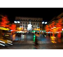 Lisbon downtown during Christmas Photographic Print