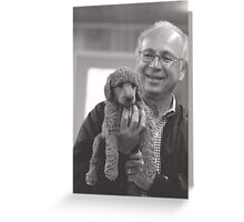 Grandpa with puppy Greeting Card