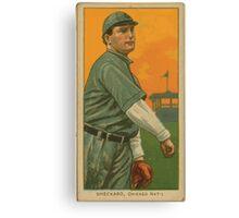 Benjamin K Edwards Collection Jimmy Sheckard Chicago Cubs baseball card portrait 001 Canvas Print
