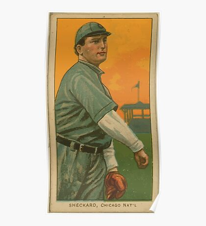 Benjamin K Edwards Collection Jimmy Sheckard Chicago Cubs baseball card portrait 001 Poster
