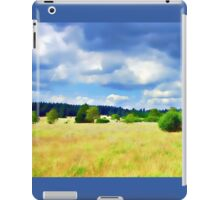 Open Field Clouded Sky iPad Case/Skin