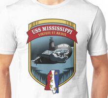 SSN-782 USS Mississippi Crest Unisex T-Shirt
