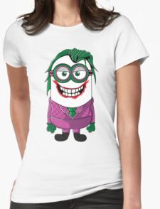 Parody Joker Minion Womens Fitted T-Shirt