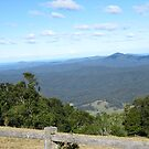 Looking Across the 'GREAT DIVIDING RANGE' Dorrigo,N.S.W. by Rita Blom