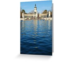 Retiro Park in Madrid Greeting Card