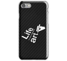 Art v Life - White Graphic iPhone Case/Skin