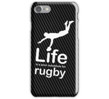 Rugby v Life - White Graphic iPhone Case/Skin