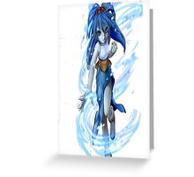 women blue Greeting Card