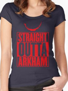 Arkham City Women's Fitted Scoop T-Shirt