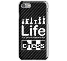 Chess v Life - White Graphic iPhone Case/Skin