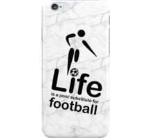 Soccer v Life - Black Graphic iPhone Case/Skin