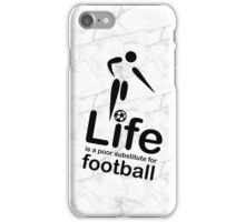 Soccer v Life - Black Graphic iPhone Case/Skin