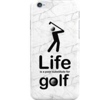 Golf v Life - Black Graphic iPhone Case/Skin