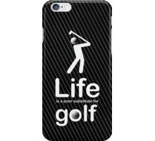 Golf v Life - White Graphic iPhone Case/Skin