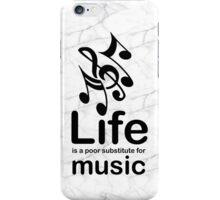 Music v Life - Black Graphic iPhone Case/Skin