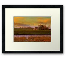 Holme House, High Coniscliffe. Late January Afternoon Framed Print
