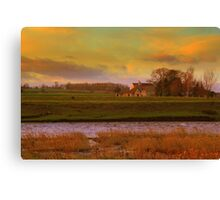 Holme House, High Coniscliffe. Late January Afternoon Canvas Print