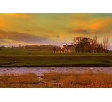 Holme House, High Coniscliffe. Late January Afternoon Photographic Print