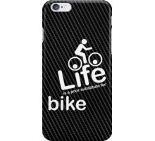 Bike v Life - White Graphic iPhone Case/Skin