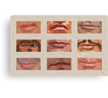 Mystery Mouths of the Action Genre Canvas Print