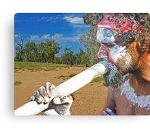 Play Your Didgeridoo Blue Metal Print