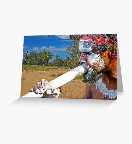 Play Your Didgeridoo Blue Greeting Card