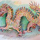 Dragon original drawing by Karin Zeller
