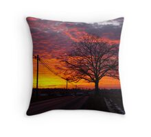 Peace Road at Sunset Throw Pillow