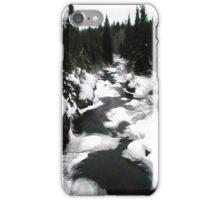 A winter river runs through it- Banff Canada iPhone Case/Skin