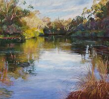 'The Goulburn at McLarty's' by Lynda Robinson