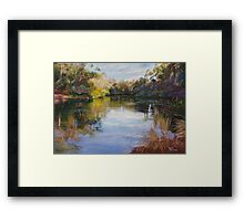 'The Goulburn at McLarty's' Framed Print