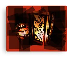 Candlelit Blocks Canvas Print