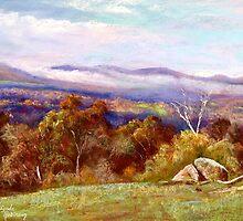 Trawool Valley Landscape by Lynda Robinson