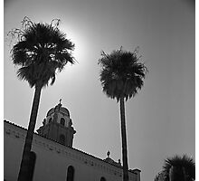 Palms and Monastery Photographic Print