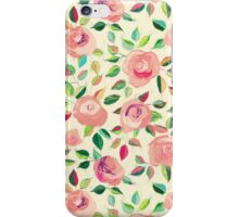 Pastel Roses in Blush Pink and Cream iPhone Case/Skin