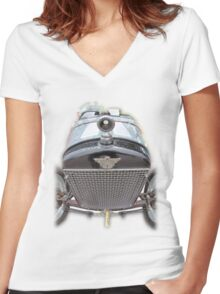Austin 7 Women's Fitted V-Neck T-Shirt