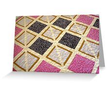Party Time Play Quilt (Lamingtons & Fairy Bread) Greeting Card