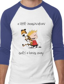 Calvin and Hobbes Little Imagine Men's Baseball ¾ T-Shirt