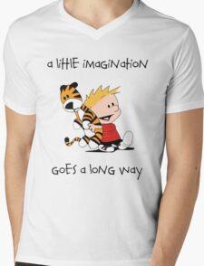 Calvin and Hobbes Little Imagine Mens V-Neck T-Shirt