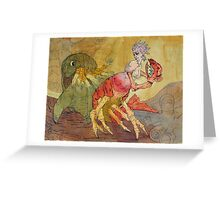 Lobster Lady Greeting Card