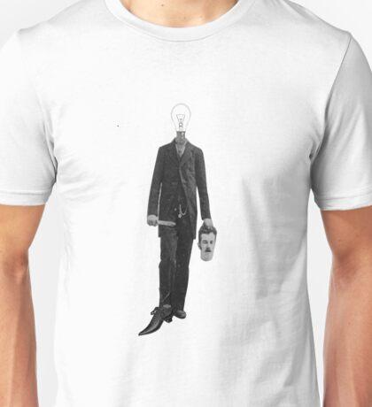 Steampunk Science Fiction Robot Cyborg Light Bulb Collage Unisex T-Shirt