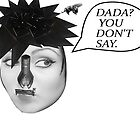 Dada? You Don't Say(Dada Woman W/Guilltone Hair-Surrealist Collage) Postcards by Welte Arts & Trumpery