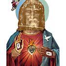 Dada Religious Figure (Benediction Dada Surrealist Collage) by Joseph Welte