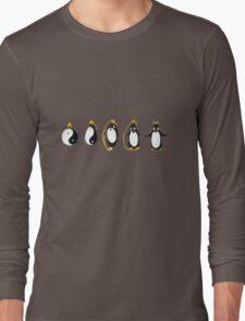 Yin Yang Penguin Long Sleeve T-Shirt