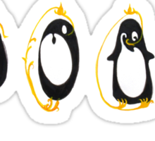 Yin Yang Penguin Sticker