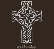 Celtic Cross n4 Lightgrey by Mandala's World