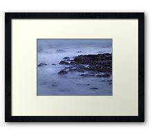 An evening by the river Framed Print